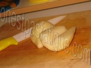 bruschetta deux pommes et morbier_etape 2