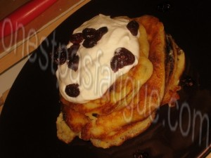 pancakes canneberges ricotta