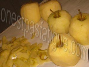 Pommes Calvados infusion ananas menthe comme une tarte sablee_etape 2