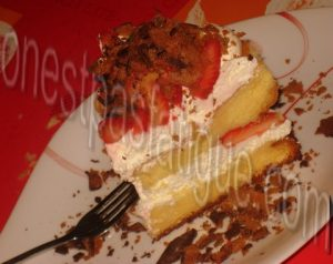 sponge cake fraises bis