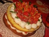 sponge cake fraises_photo wall
