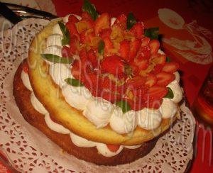 sponge cake fraises_photo wall